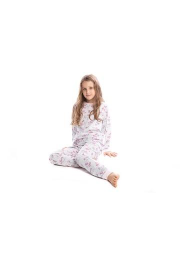 Pamuk & Pamuk Kız Çocuk Unicorn Desen Pamuklu Pijama Takımı Renkli